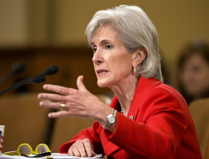 Health and Human Services Secretary Kathleen Sebelius testifies on Capitol Hill in April at a House Ways and Means Committee hearing on President Obama's budget proposal for fiscal year 2014. Hospitals within the same city sometimes charge tens of thousands of dollars more for the same procedure, figures the government released for the first time Wednesday show.