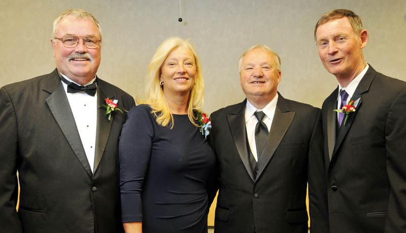 CLASS OF 2013: From left, Manch Wheeler, Paula Doughty, Paul Vachon and John Wolfgram were among 10 inducted into the Maine Sports Hall of Fame Sunday May 5 at the Augusta Civic Center