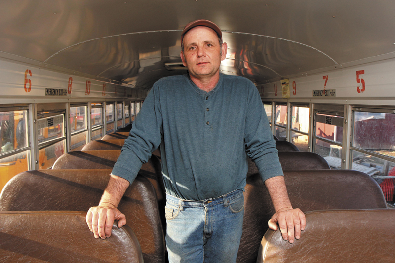 A NICE MANEUVER : On Tuesday, bus driver Nathan Philbrick of Sidney saved a boy by administering the Heimlich maneuver. The boy had choked on some candy and stopped breathing. Philbrick's quick action saved the boy's life.