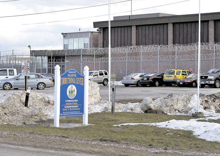 The exterior of the Maine Correctional Center in Windham, which Gov. Paul LePage proposed to rebuild with a $100 million bond.