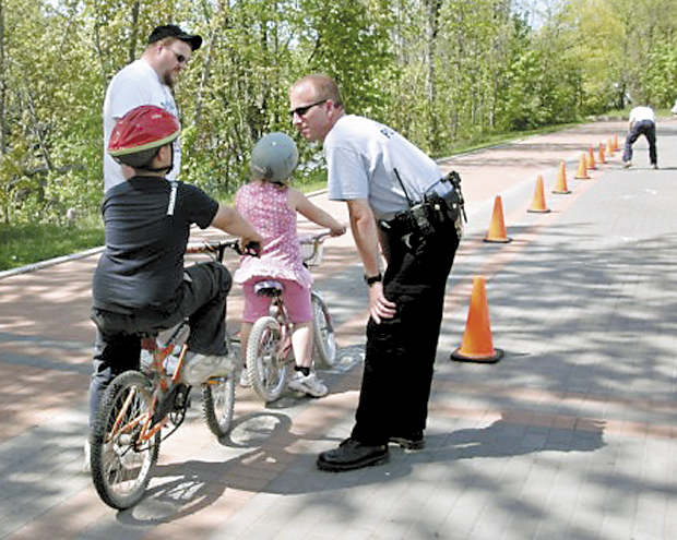The Clinton Police Department's annual bicycle safety rodeo for children is Saturday.