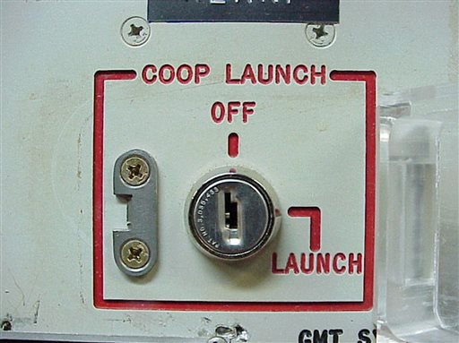 This 2002 file photo provided by the National Park Service shows the launch key mechanism at the deactivated Delta Nine Launch Facility near Wall, S.D.