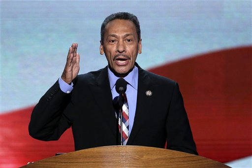 Rep. Melvin Watt of North Carolina addresses the Democratic National Convention in Charlotte, N.C., in this Sept. 6, 2012, photo.