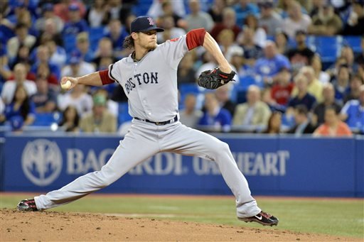BUCHHOLZ GETS IT DONE: Boston's Clay Buchholz delivers a pitch against the Toronto Blue Jays on Wednesday in Toronto. GG;Canada;Canadian;diplomatic;Federal;General;Gouverneur;government;Governor;leader;leadership;Majesty;Majesty's;monarch;political;politics;Queen;Queen's;represent;representative;royal;royalty;viceregal;politician;foreign trip;International;meet;meeting;Nation;visit;visiting;portrait;art;artistic;arts;Ent;entertain;entertainer;entertainers;entertaining;entertainment;expression;image;photograph;photographed;picture;portraits;pose;poses;posing;profile