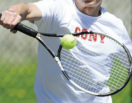 READY TO GO: Cony's Dallas Clark will play in today's Round of 40 state singles tennis tournament. Clark will play Erskine's Zhong McClure at 11:15 a.m. at the Racket & Fitness Center in Portland.