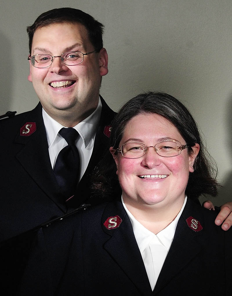 Salvation Army captains Michael and Wendy Morrison will leave Augusta next month and move to Pennsylvania. This portrait was taken on Friday in Augusta.