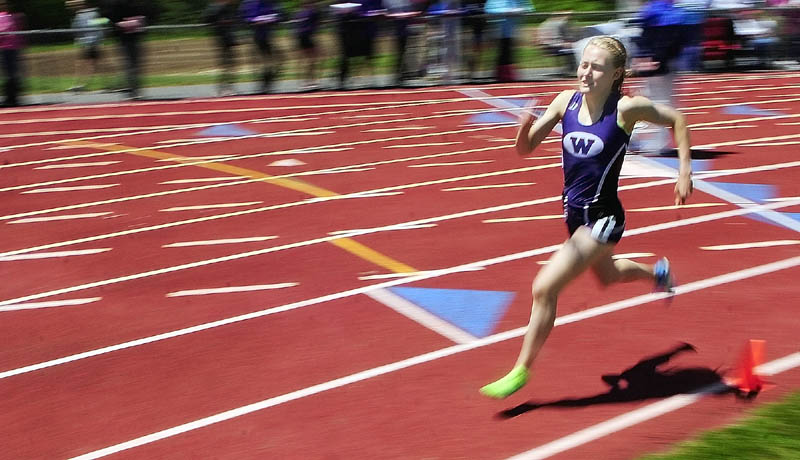 MORE HARDWARE: Bethanie Brown won the 1,600- and 3,200-meter runs and also ran on the winning 4x400 relay team as the Waterville girls won the Kennebec Valley Athletic Conference Class B title Monday in Bath.