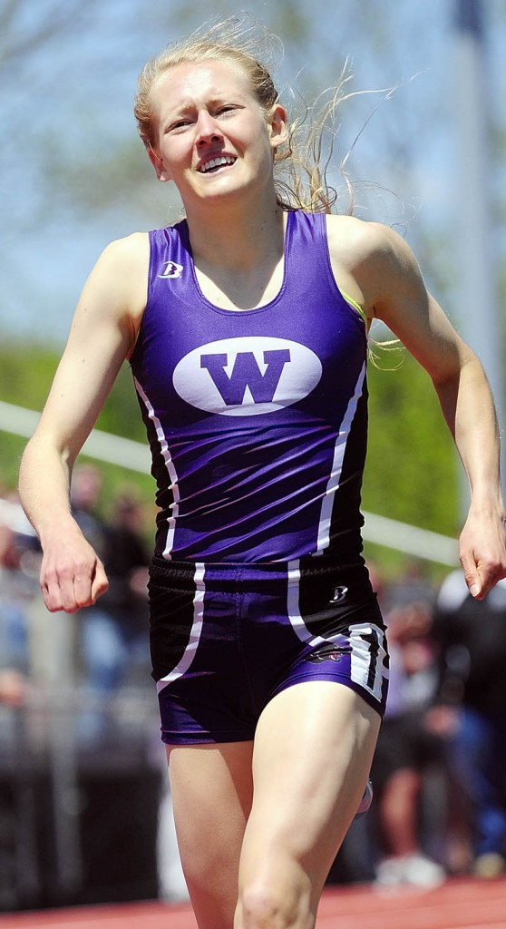 RECORD QUEST: Waterville's Bethanie Brown will make a run at three state records at the Class B state championship meet today in Bath. Brown will attempt to break her own record in the 1,600- and 3,200-meter runs and add the 800 record to her resume.