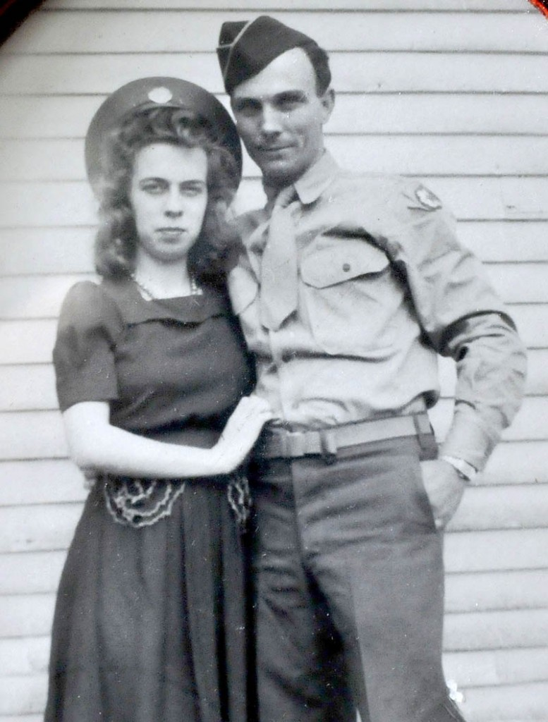 Dorothy and Lawrence Burleigh, of Corinna, taken after they were married in 1942.