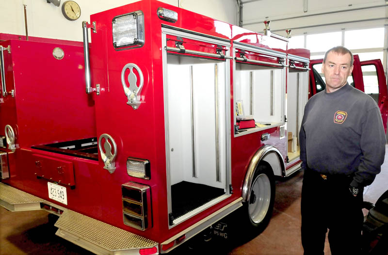 Farmington fire chief Terry Bell speaks about his department's effort to build a squad truck with labor from firefighters and other town resources, which resulted in substantial savings to the town.