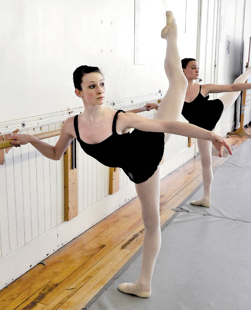 Messalonskee High School student Gabby Perkins rehearses at the Bossov Ballet Theatre at Maine Central Institute in Pittsfield. Perkins is one of 15 foreign dancers to be accepted to enroll at the Vaganova Ballet Academy in Russia.