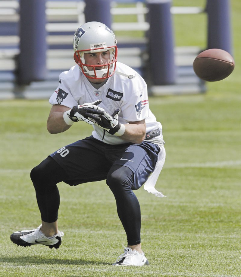 A NEW GROUP: Danny Amendola is one of nine new wide receivers who are participating in offseason works outs with the New England Patriots this week.