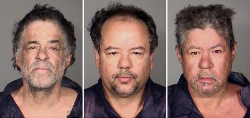 This combination photo shows Onil Castro, left, Ariel Castro and Pedro Castro, who were in custody Tuesday.