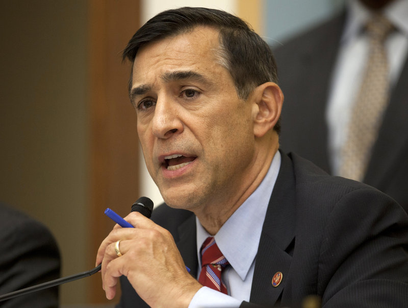 House Oversight Committee Chairman Darrell Issa, speaks on Capitol Hill. He issued a subpoena to force testimony on the Benghazi incident.