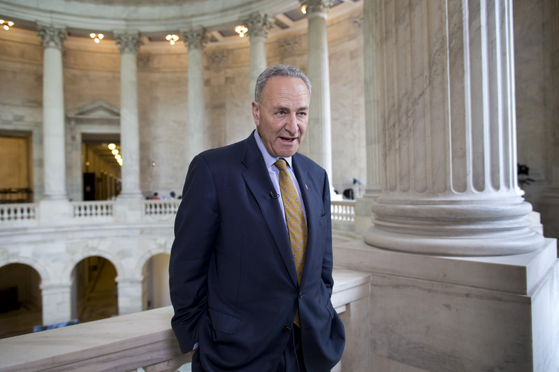 """Sen. Chuck Schumer, D-N.Y., is proposing legislation that would set rules for how leaks about government secrets are investigated. He was on """"Face the Nation"""" on Sunday."""