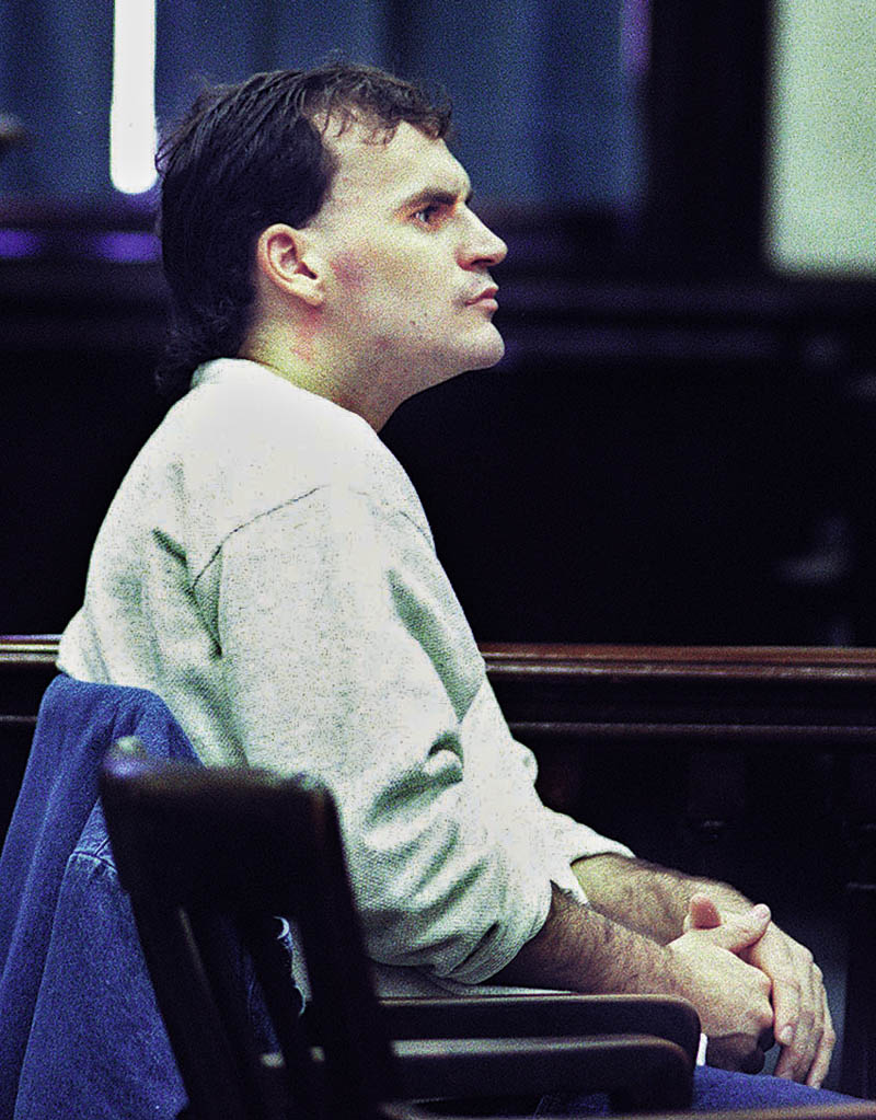 Guy E. Hunnewell III is arraigned in Somerset County Superior Court in Skowhegan in 1998 on a murder charge.