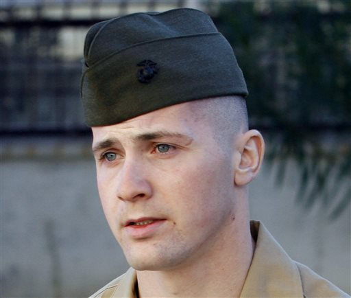 Marine Sgt. Lawrence Hutchins III, of Plymouth, Mass., is shown at Camp Pendleton Marine Corps Base, Calif., in Dec. 2006 photo.
