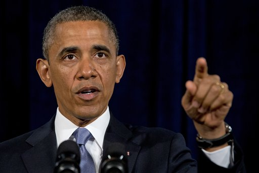 President Barack Obama gestures while speaking in San Jose, Calif. , Friday. The president defended his government's secret surveillance, saying Congress has repeatedly authorized the collection of America's phone records and U.S. Internet use.