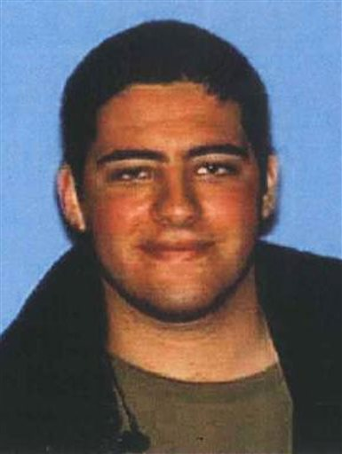 This undated photo provided on Sunday by the Santa Monica Police Department shows John Zawahri, 23, who police have identified as the shooter in Friday's deadly rampage at Santa Monica College.