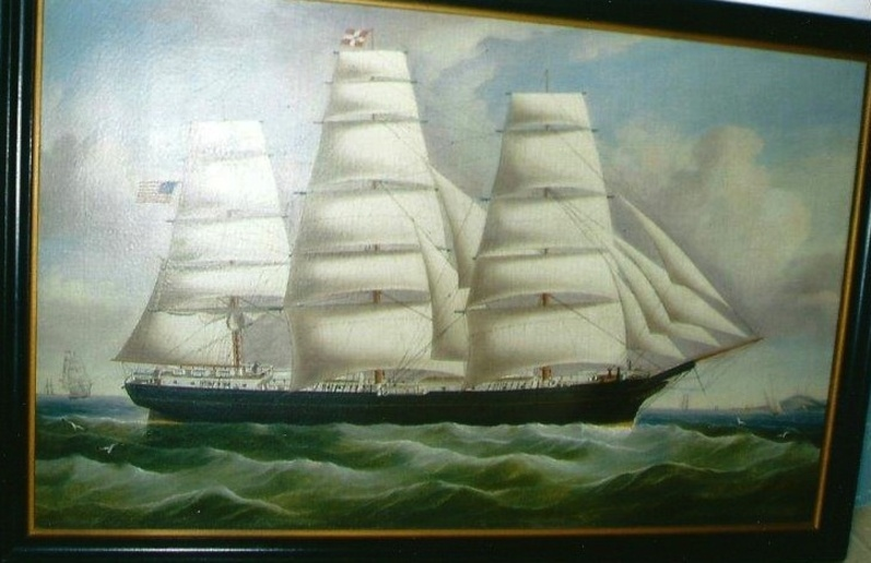 The Sagadahoc Sheriff's Office is looking for this painting, which was stolen from a home in Woolwich earlier this year.