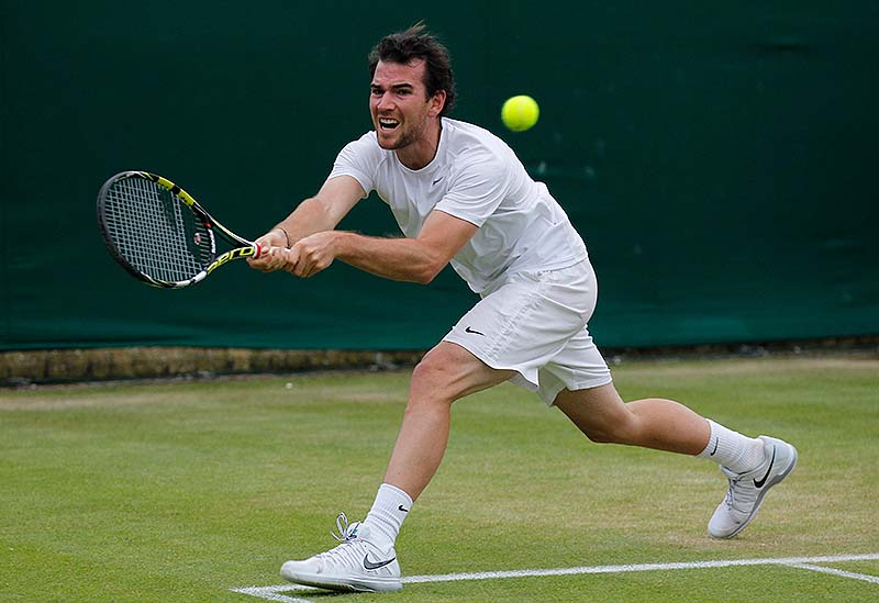 Adrian Mannarino of France has reached the fourth round of Wimbledon; he's never played in the quarterfinals of a Grand Slam tournament.