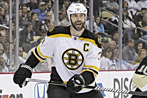 HARD TO STOP: Boston's Zdeno Chara is a big reason the Bruins are in the Stanley Cup finals. The Bruins face the Blackhawks in Game 1 tonight.