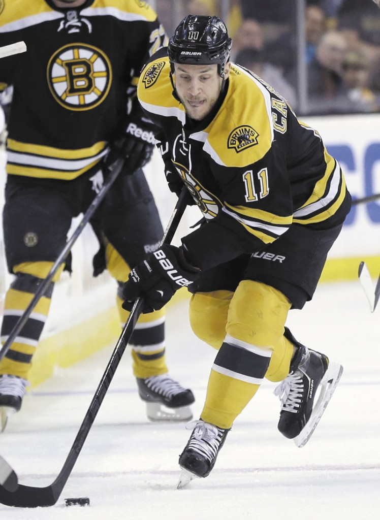 TOUGH BREAK: Boston Bruins center Gregory Campbell will miss the rest of the NHL playoffs with a broken right leg. General manager Peter Chiarelli made the announcement Thursday. Campbell was hurt during the second period of the Bruins 2-1, double-overtime victory on Wednesday night. TD Garden