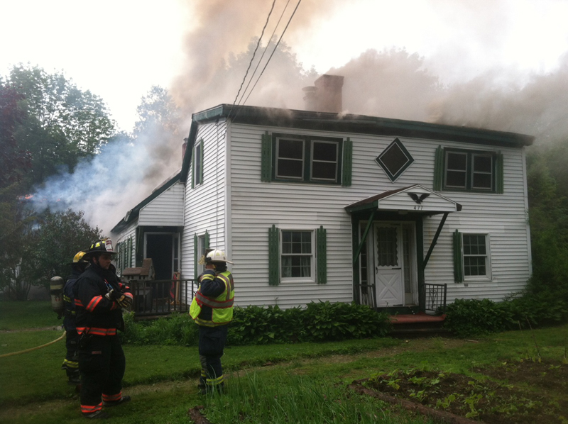 House fire in Farmingdale Wednesday afternoon.