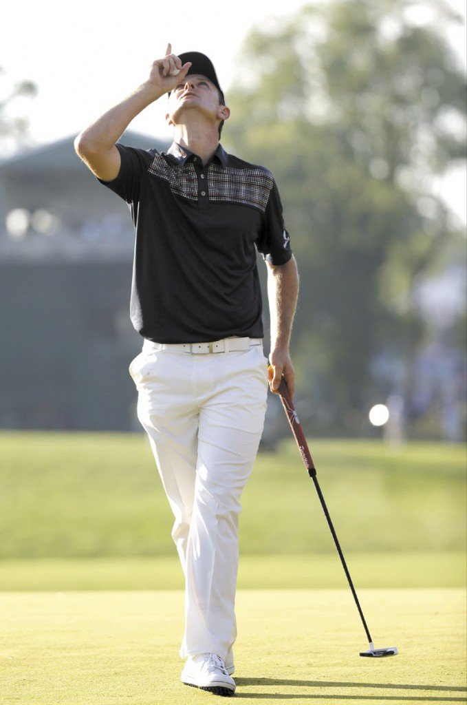HE'S THE CHAMP: Justin Rose celebrates after winning the U.S. Open on Sunday at Merion Golf Club in Ardmore, Pa.