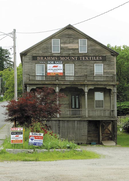 The former Hallowell Granite works property, most recently occupied by Brahms Mount, at 19 Central St. in Hallowell, will soon be divided into a private home and financial services office.