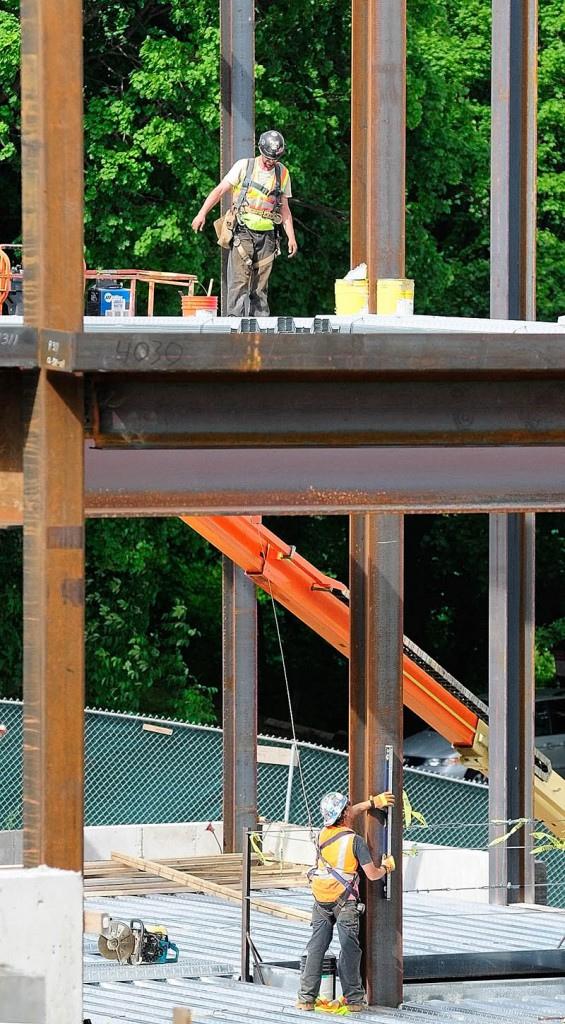 Construction continues on the new Kennebec County Superior Court House last week in Augusta.