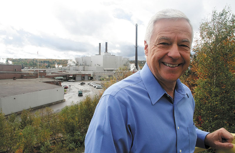 U.S. Rep. Mike Michaud stands outside Great Northern Paper mill in East Millinocket in October 2012. Michaud released his personal finance documents last week.
