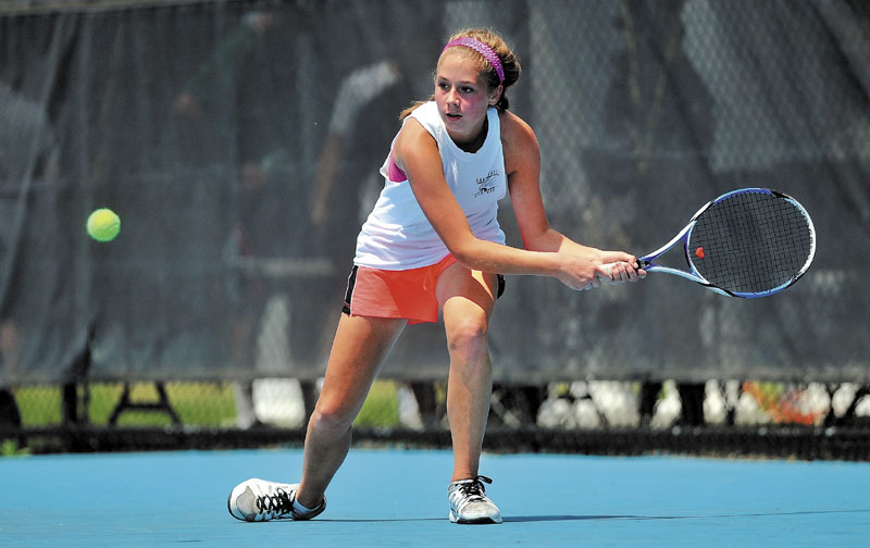 ANOTHER CHANCE: Colleen O'Donnell and the Waterville Senior High School girls tennis team will face Falmouth in the Class B state championship match for the third straight season, this morning at the Bangor Tennis Club in Hampden.
