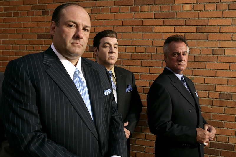 This 2007 photo, supplied by HBO, shows James Gandolfini, left, Steven Van Zandt and Tony Sirico, right, members of the cast of the HBO cable television mob drama