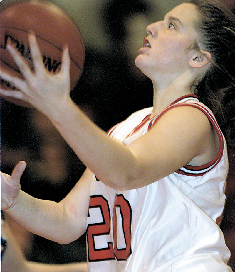 HALL BOUND: Former Cony basketball player and current University of Maine assistant coach Amy Vachon will be inducted into the New England Basketball Hall of Fame on Saturday.