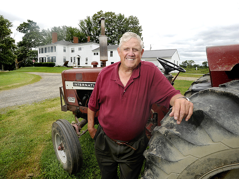 Albert Mosher is the sixth generation to own and operate Long View Farm in Gorham.