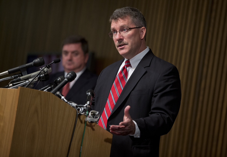 """Ron Hosko, assistant director of the FBI's Criminal Investigative Division, speaks during a news conference about """"Operation Cross Country"""" at FBI headquarters on Monday in Washington. The FBI says the operation rescued 105 children who were forced into prostitution in the United States."""