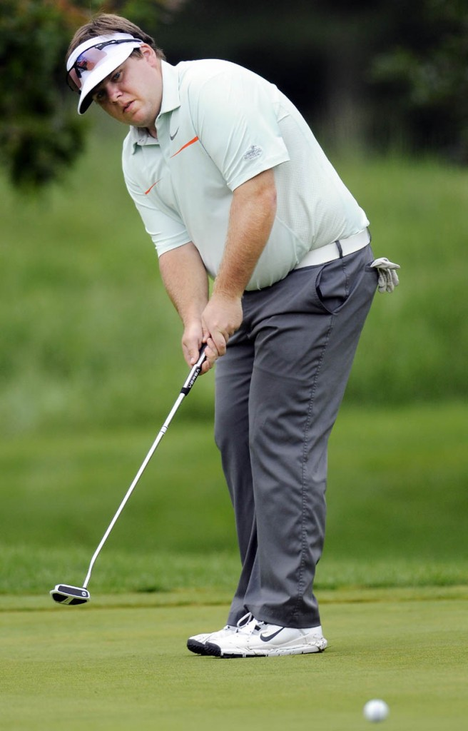 Ryan Gay shot 1-under par in the first round of the Maine Amateur Championship on Tuesday at the Augusta Country Club.