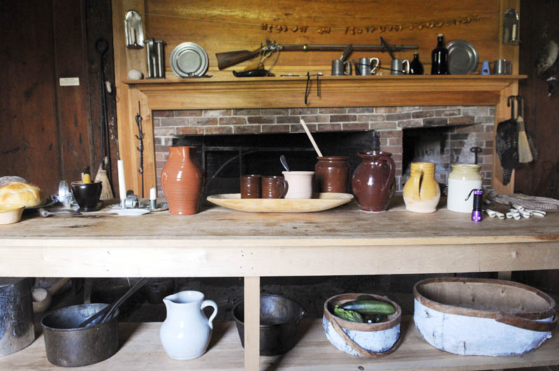 The fireplace at the Colburn House State Historic Site in Pittston on June 25.
