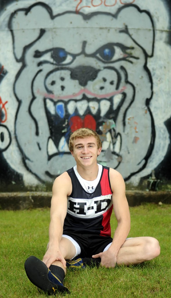 BULLDOG: Hall-Dale High School's Tyler Fitzgerald is the Kennebec Journal Boys Track and Field Athlete of the Year.