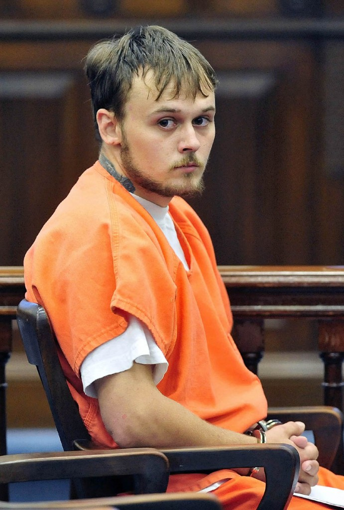 Jason C. Cote, 22, of Hurd's Corner Road, makes his court appearance this afternoon in Somerset County Superior Court.