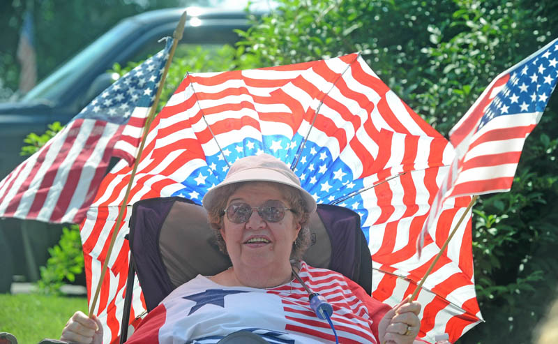 Jane Cochran, of Winslow, waits for the annual Winslow Family 4th of July Celebration parade in Winslow Thursday.