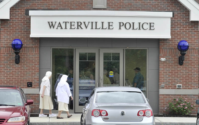 New Waterville police station on Colby Circle Thursday morning.