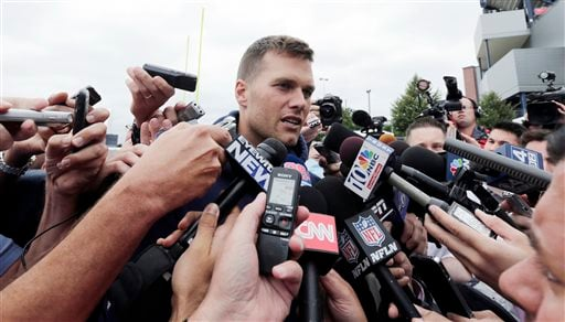 Tom Brady will be facing more questions than usual this season: not just the Aaron Hernandez arrest, but a complete revamping of receivers with the New England Patriots.