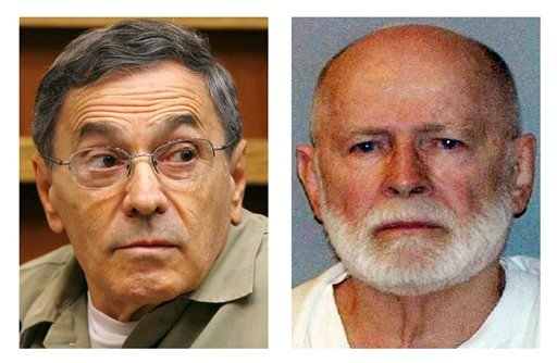 "Stephen ""The Rifleman"" Flemmi, left, shown in a Sept. 22, 2008, photo, is expected to take the witness stand again on Friday in the trial of James ""Whitey"" Bulger, right."