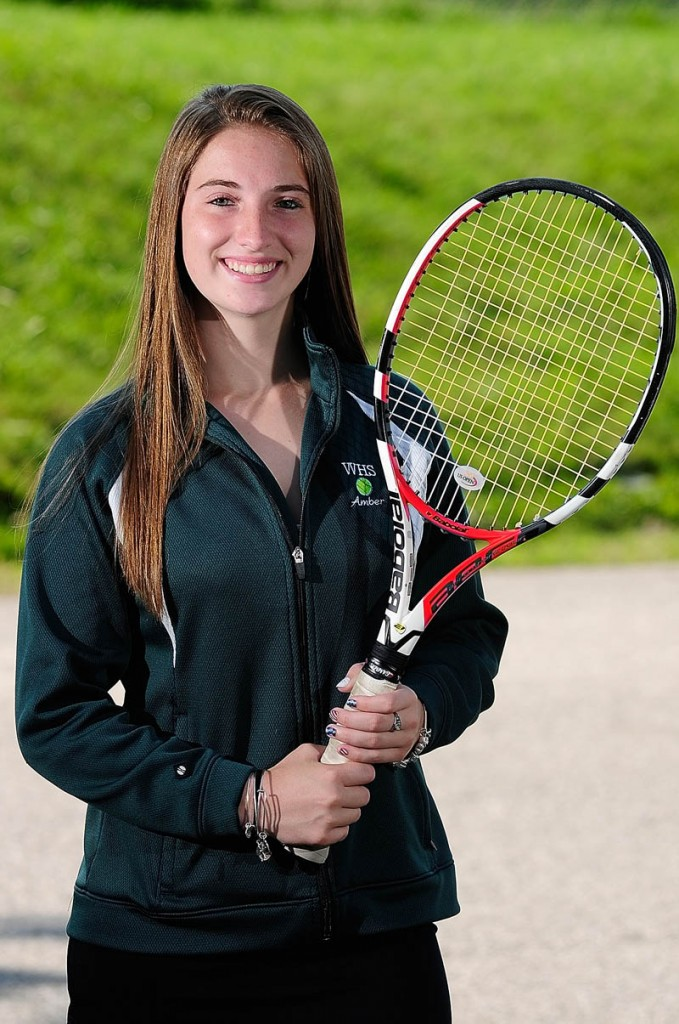 Winthrop graduate Amber Pritchard is the Kennebec Journal 2013 Girls Tennis Player of the Year.