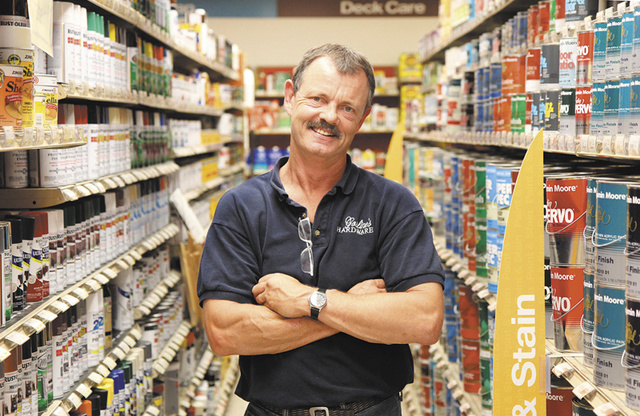 Gosline's Hardware store, owned by Tom Bolster, has been in business in Farmingdale for more than 20 years.