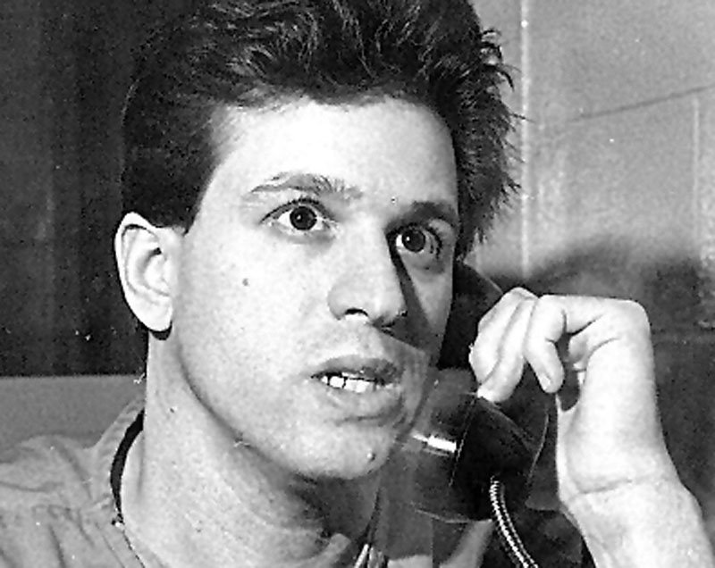 Jeffrey Libby speaks on a telephone in this 1994 photo.