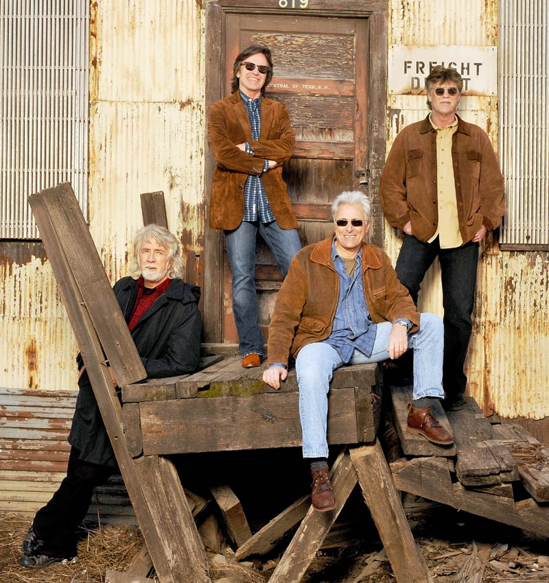 The Nitty Gritty Dirt Band will be playing the Waterville Opera House on Oct. 3. From left to right are: John McEuen, Jeff Hanna, Jimmy Fadden and Bob Carpenter.