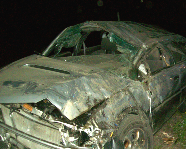Vehicle that was involved in a fatal Jackman accident Wednesday.
